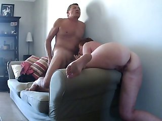 gold fuck on the couch