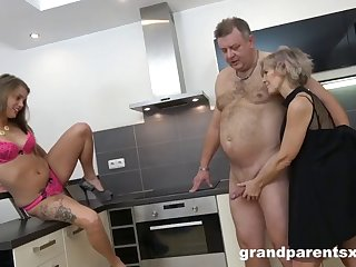 old couple makes girl go bananas