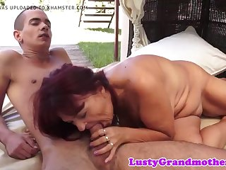 busty mature rides cock outdoors