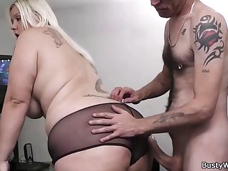 chubby secretary blowjob and load of shit riding